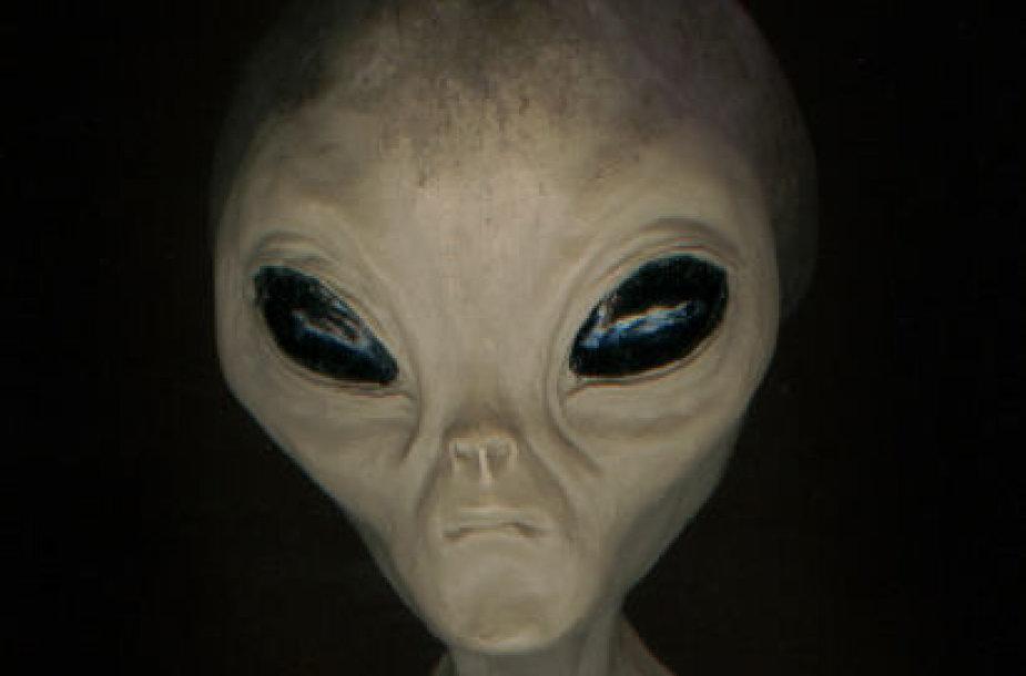 """Daugelis artimojo kontakto su ateiviais iš kosmoso dalyvių nepriklausomai vienas nuo kito juos apibūdina labai panašiai: neaukštos, smulkaus sudėjimo, pilkšvos arba žalsvos būtybės su neproporcingai didele galva ir akimis – klasikinis holivudinis """"ufonauto' įvaizdis. Šaltinis: mufon.com"""