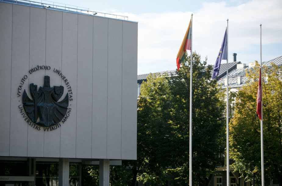VDU nuleista universiteto vėliava
