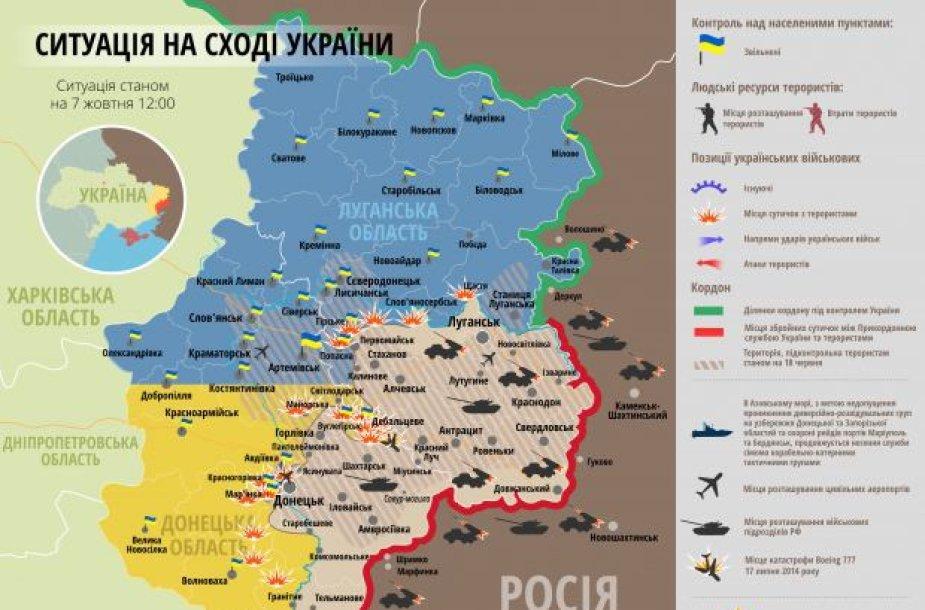 Situacija rytų Ukrainoje spalio 7 d.