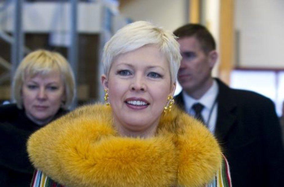 Estijos prezidento Toomaso Hendriko Ilveso žmona Evelin Ilves
