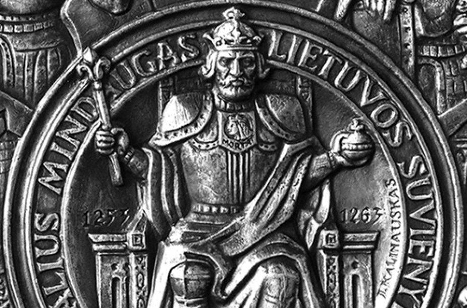 Lietuvos karalius Mindaugas,LVTM_medalio_fragmentas