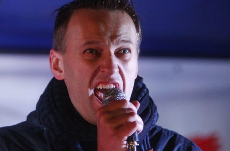 A.Navalnas mitingo metu