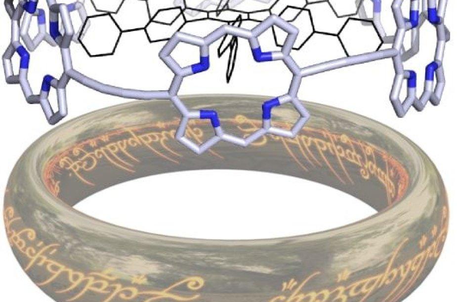 Porfirino molekules jungiantis žiedas mokslininkams primena Saurono Didįjį žiedą