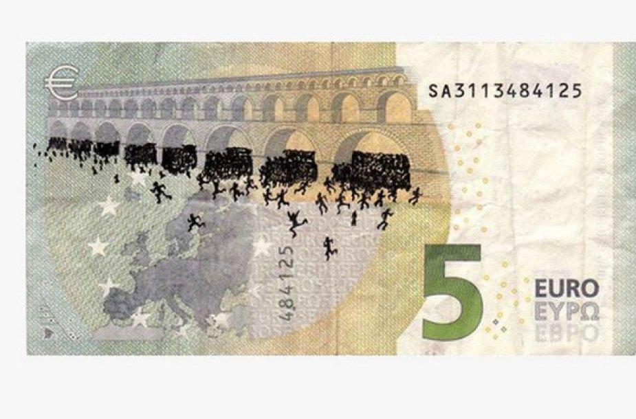 Stefanos piešiniai ant banknotų