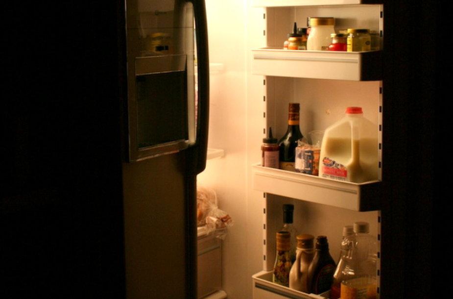 Norėtųsi nevarstyti šaldytuvo durelių