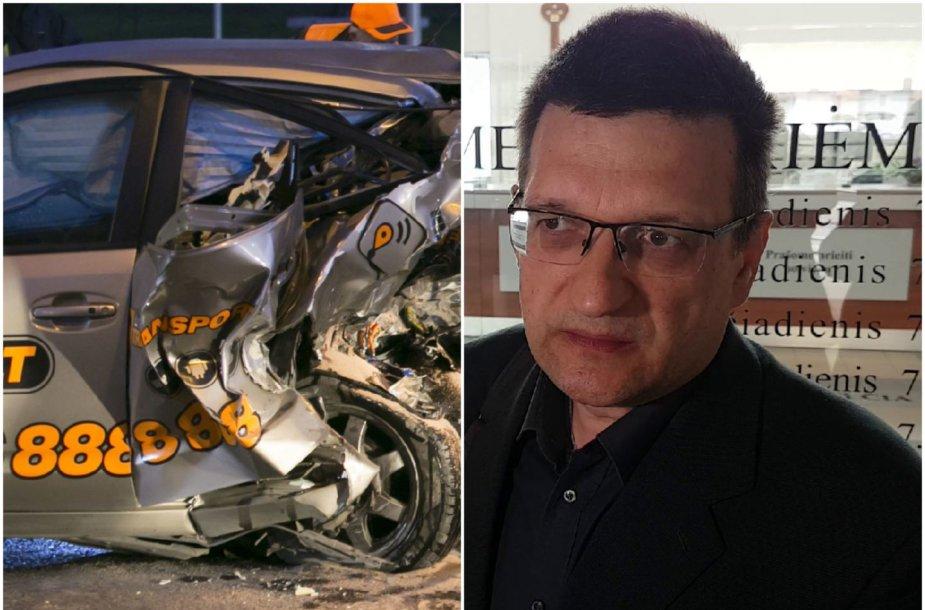 """""""CityBee"""" avarijos padariniai ir nukentėjusysis R.Grigas"""