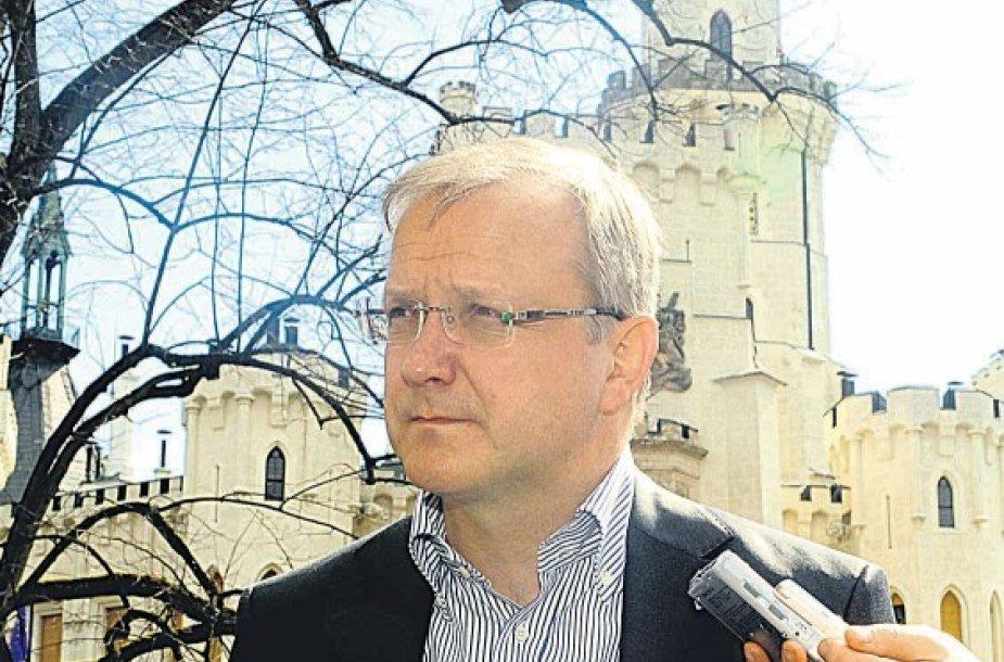 Komisaras O.Rehnas daug ES plėtros pusių.