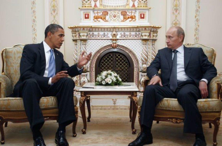 Istoriniai Obamos pusryčiai su Putinu