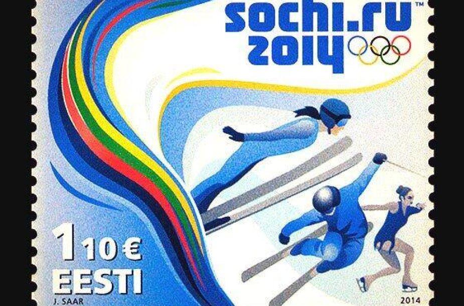 Sočio olimpiadai skirtas estų pašto ženklas