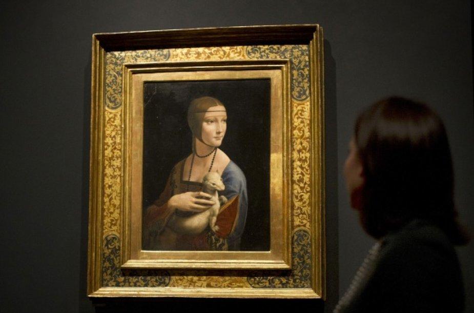 """Parodoje Londone eksponuojama ir garsioji Leonardo da Vinci """"Dama su šermuonėliu"""""""