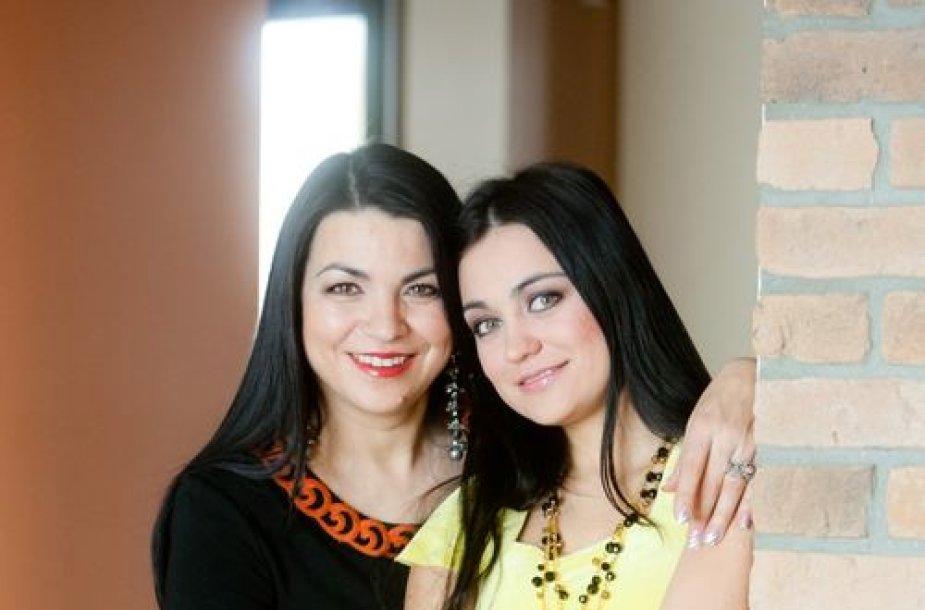 Giulija su dukra Monika Sakalauskaite