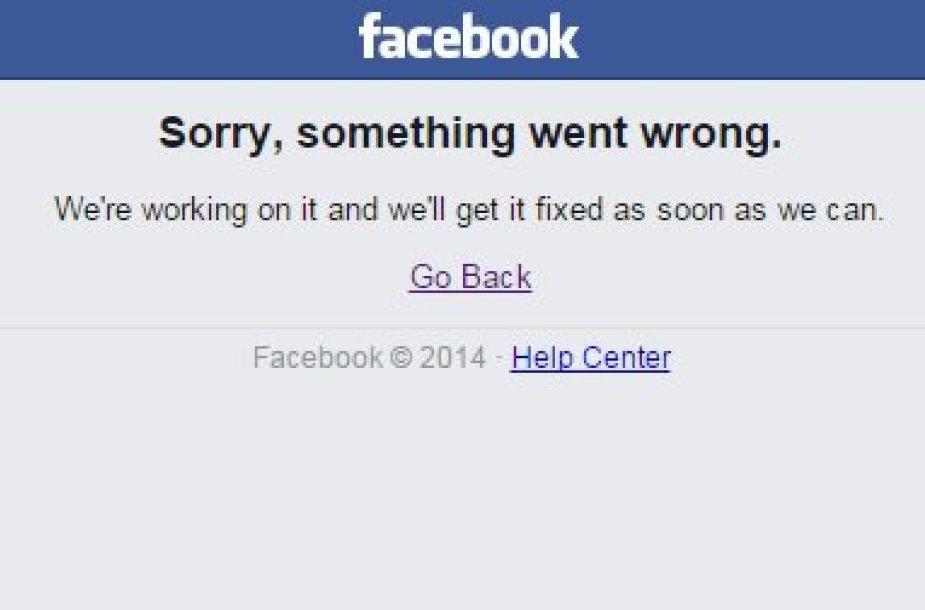 "Sutriko ""Facebook"" veikla"