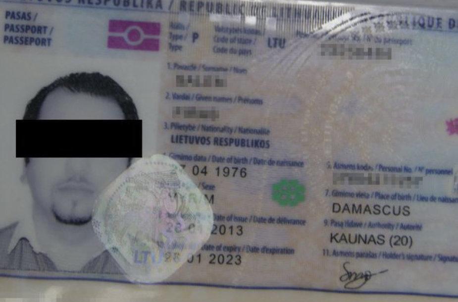 Padirbtas lietuviškas asmens dokumentas