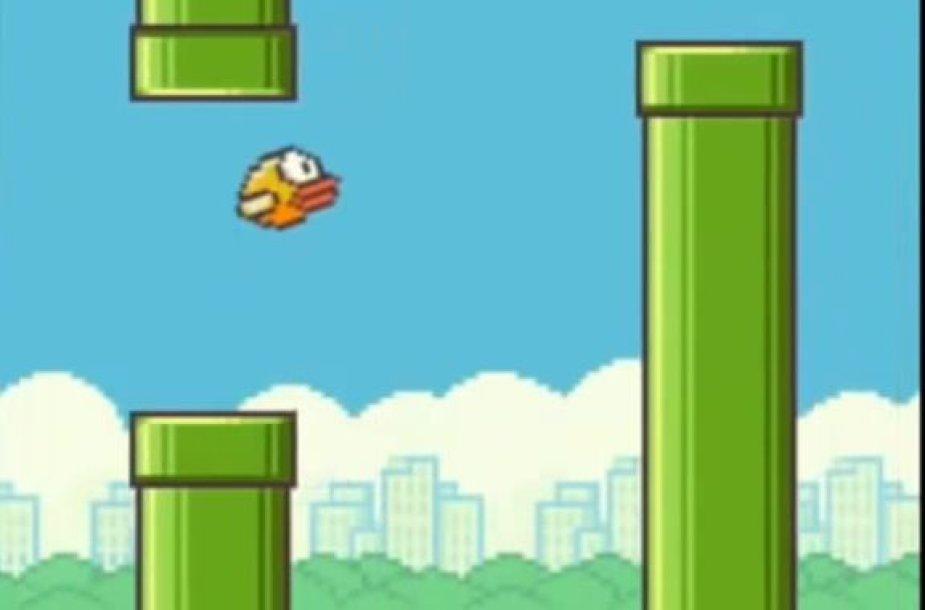 """Žaidimas """"Flappy Bird"""""""