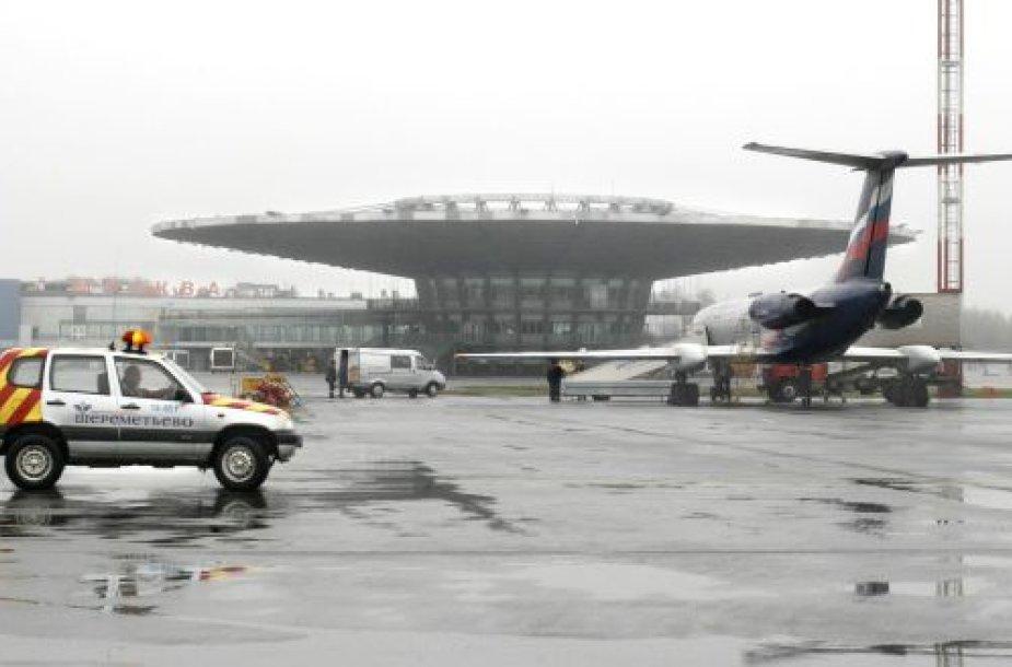 Maskva, lėktuvas Šeremetjeve