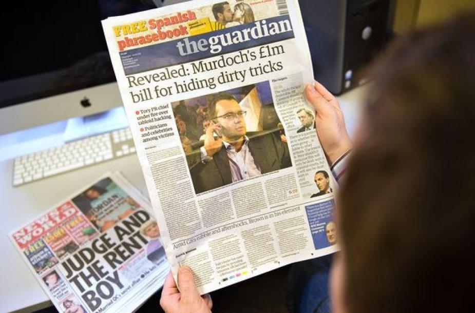 """Britų laikraštis """"The Guardian"""" teigia, kad R.Murdocko žiniasklaidos holdingas """"News Corporation"""" išmokėjo milžiniškas kompensacijas nukentėjusiems"""