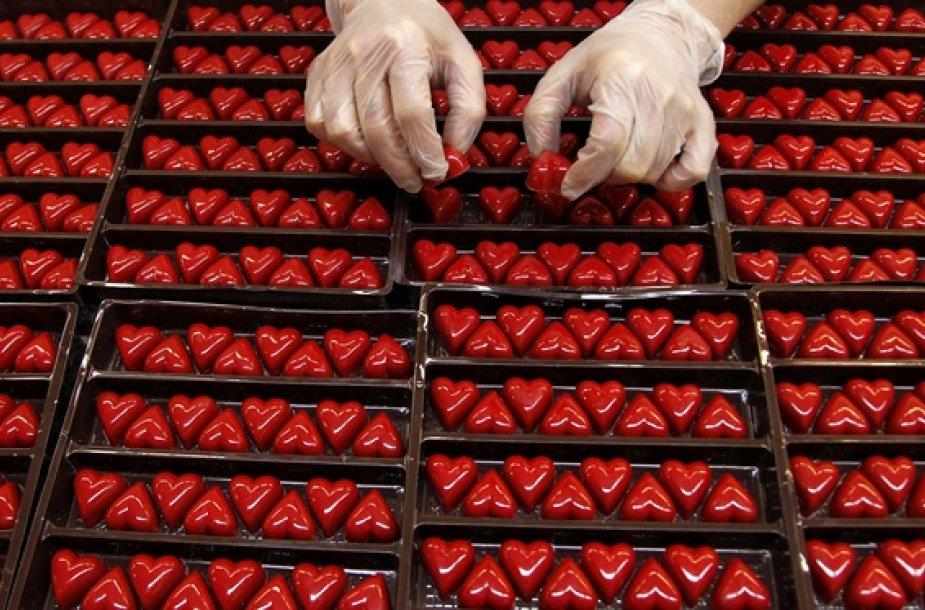 Širdelės formos šokoladas