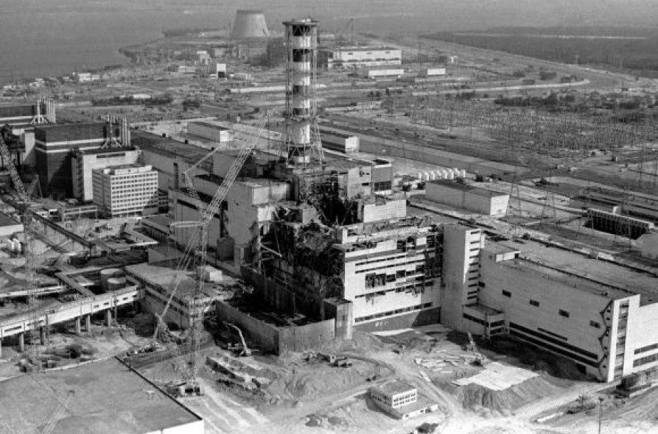 Černobylio atominė elektrinė po katastrofos