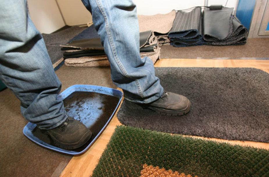 Išbandomi kilimėliai