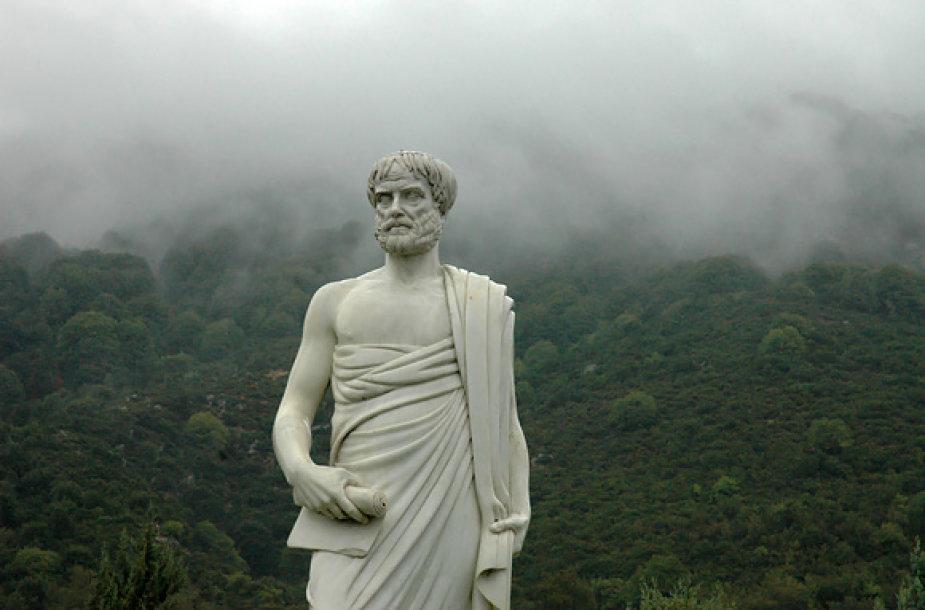 Lietuje mirkstantis Aristotelis
