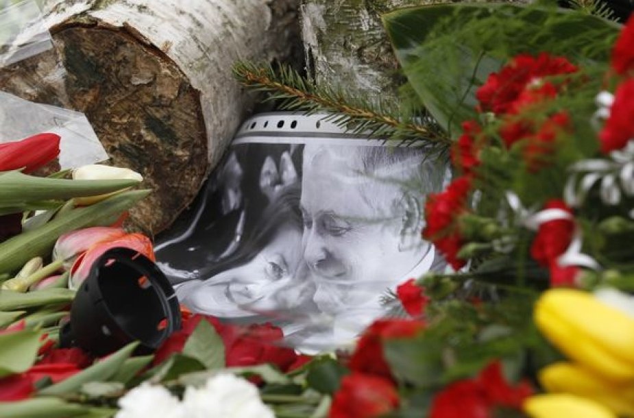 L.Kaczynskio ir jo žmonos nuotrauka