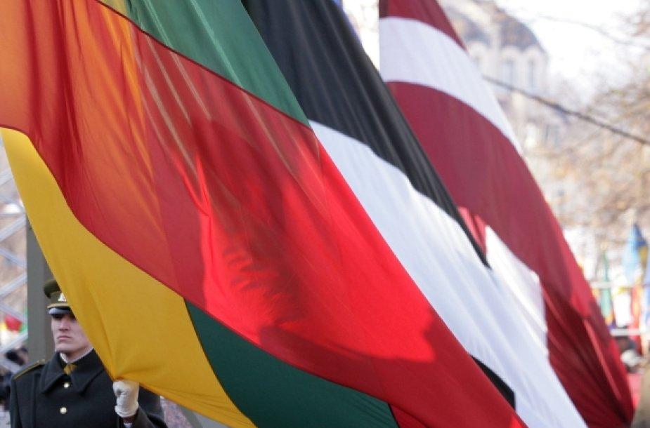 Lietuvos, Estijos ir Latvijos vėliavos
