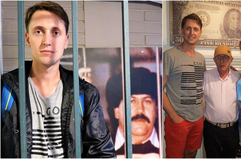 Gediminas ir Aušrinė Medeljine įsiamžino su P.Escobaro broliu Roberto jo įkurtame muziejuje