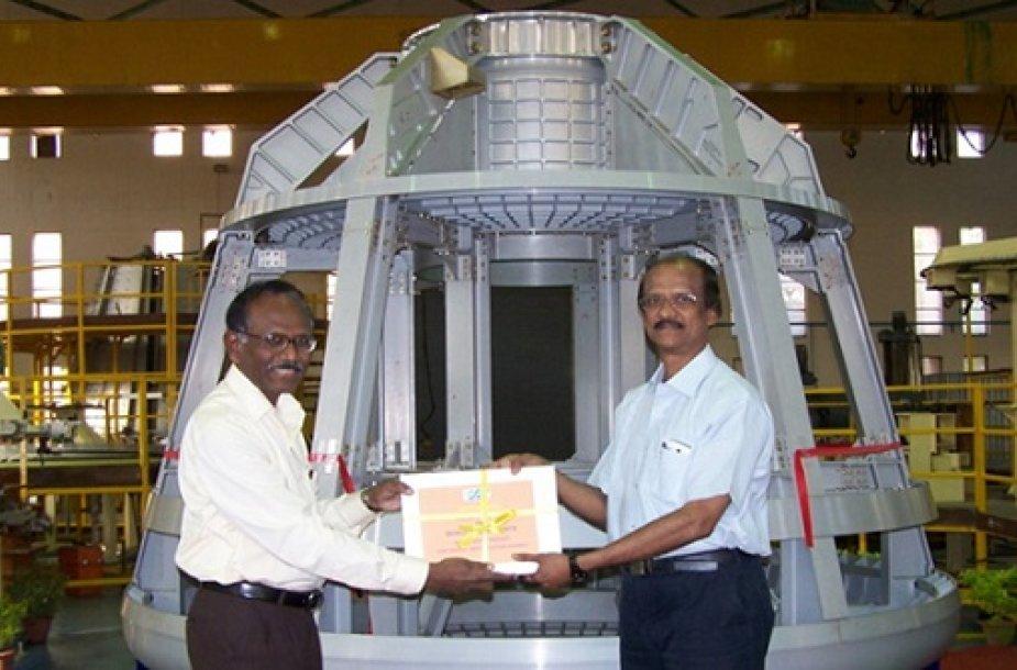 Indija demonstruoja pirmąją nuosavą astronautų kapsulę