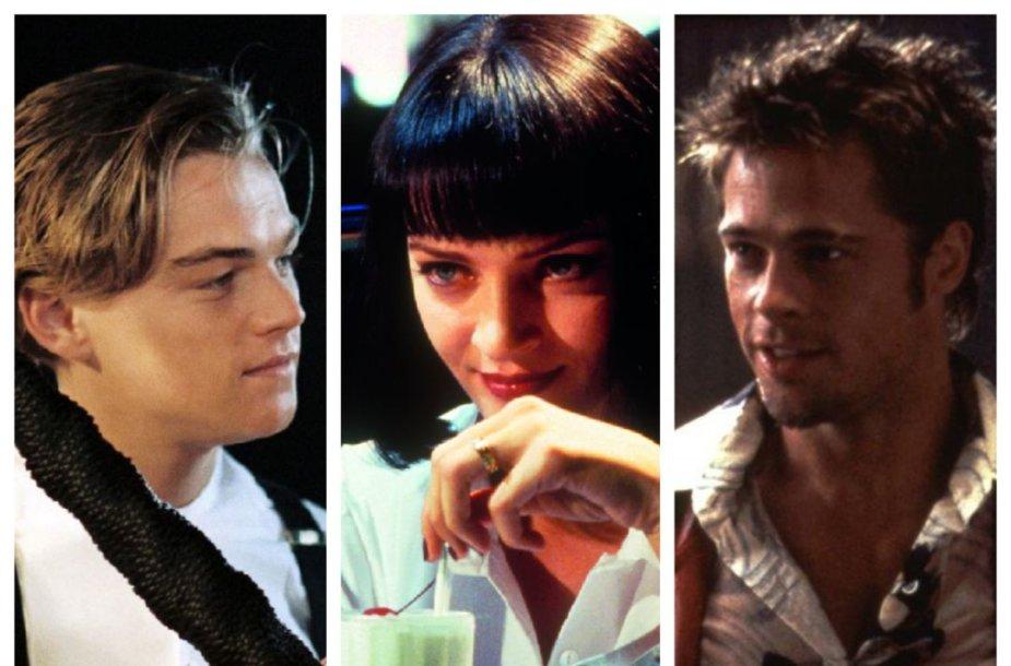 Leonardo di Caprio, Uma Thurman ir Bradas Pittas