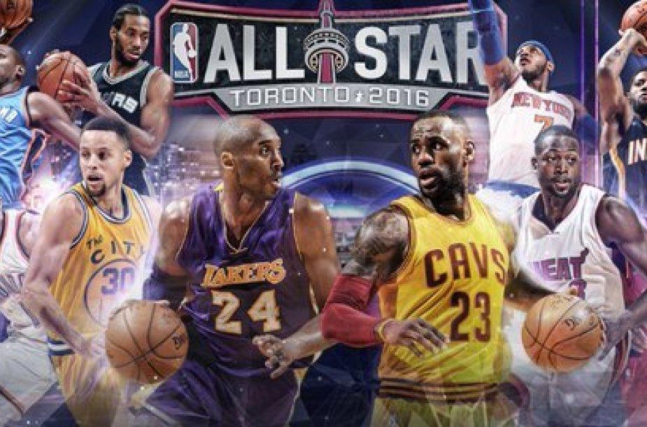 """NBA """"Visų žvaigždžių"""" rungtynių starto penketai"""