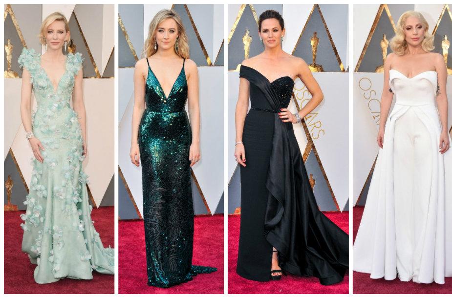 Cate Blanchett, Saoirse Ronan, Jennifer Garner, Lady Gaga ir Charlize Theron