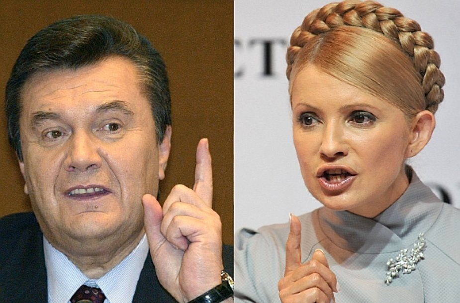 Viktoras Janukovyčius ir Julija Tymošenko susikaus antrame rinkimų ture.