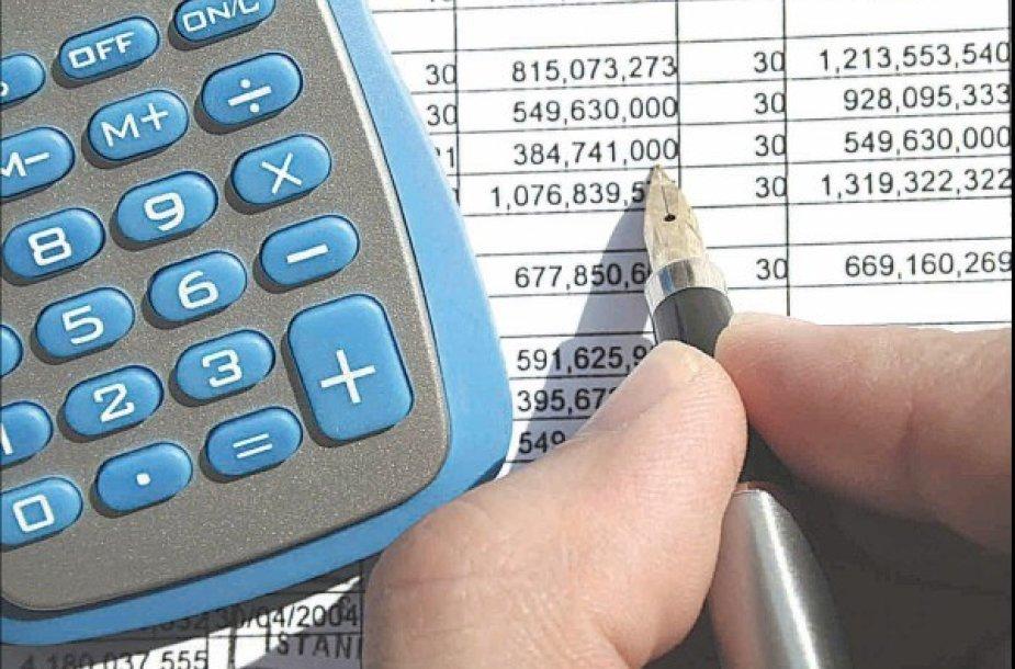 Skolos išieškojimas prasideda nuo išsamių skaičiavimų.