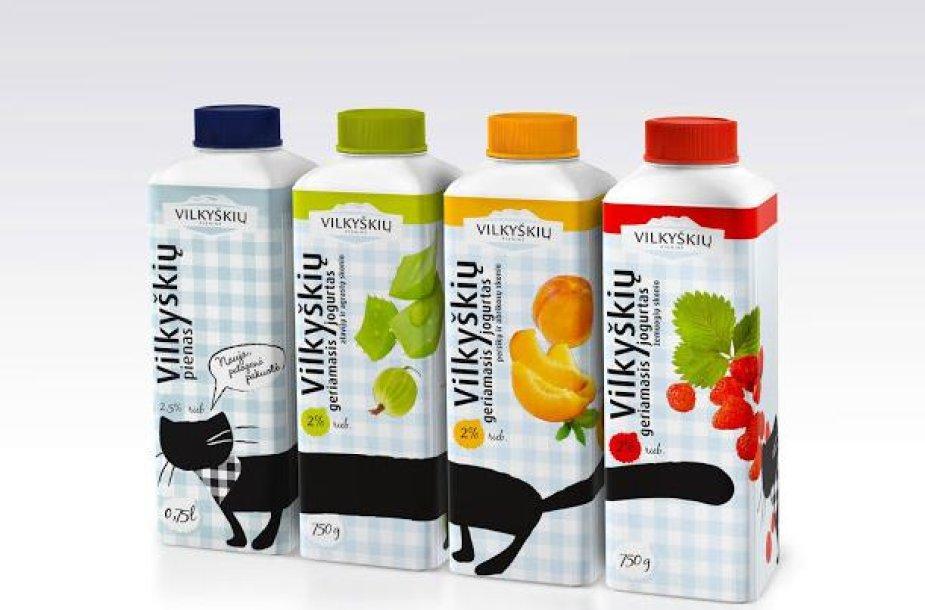 Vilkyškių pieninės jogurto dizainas