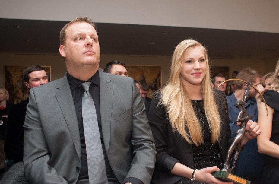 Jonathanas Ruddas ir Rūta Meilutytė