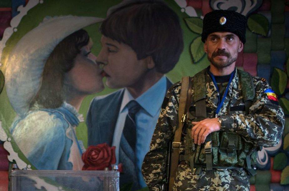 """Išankstinis balsavimas """"rinkimuose"""" Luhansko teroristų kontroliuojamoje teritorijoje"""