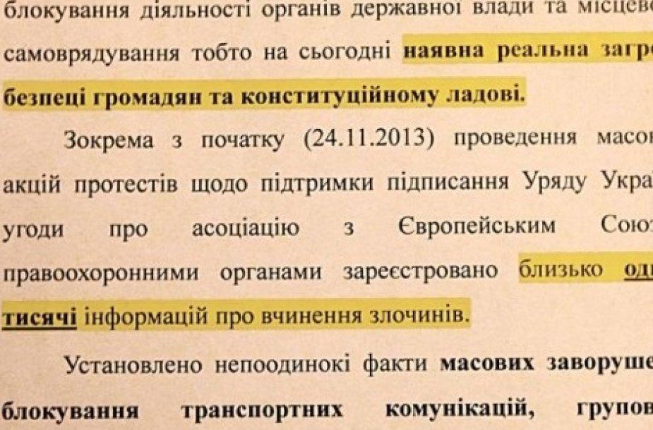 Žurnalistų aptiktas dokumentas