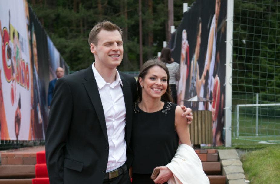 Martynas Pocius su žmona Viktorija