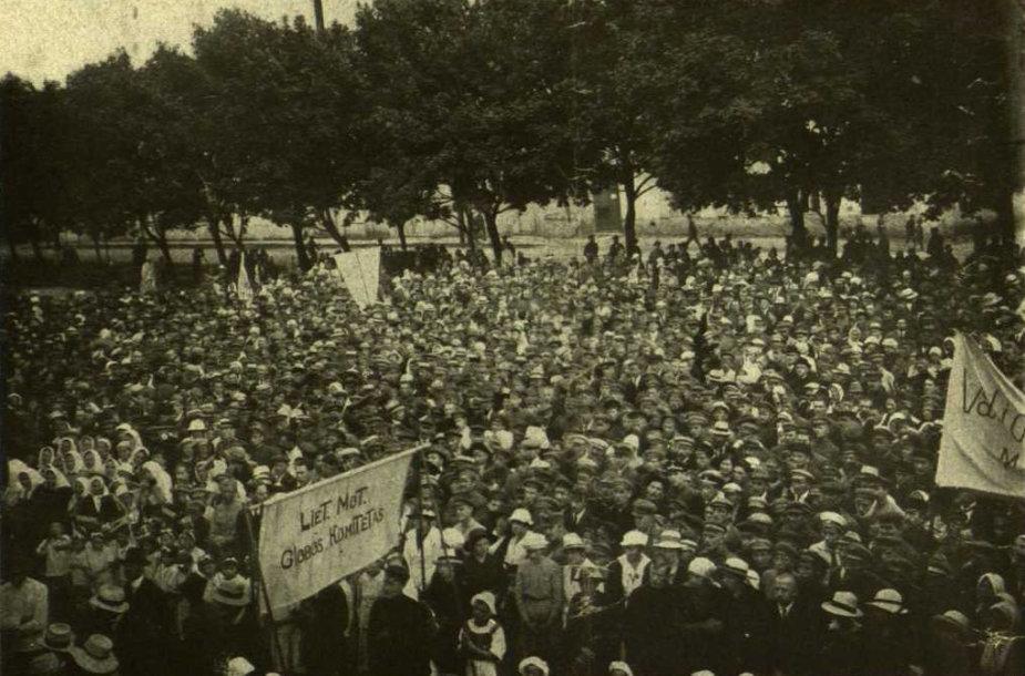 Protesto akcija prieš Hymanso projektą