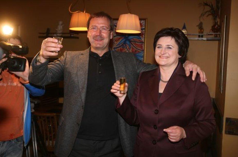 Viktoras Uspaskichas ir Loreta Graužinienė