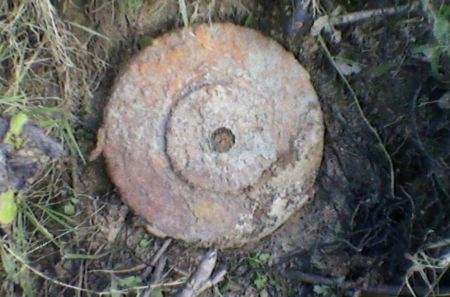 Nemuno pakrantėje rasta pavojinga vokiška mina