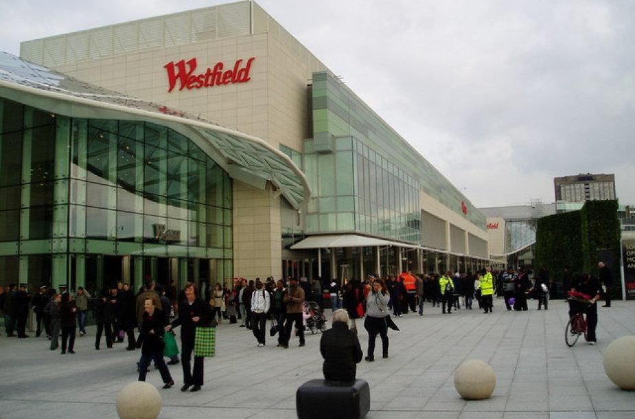 Londone evakuotas prekybos centras.