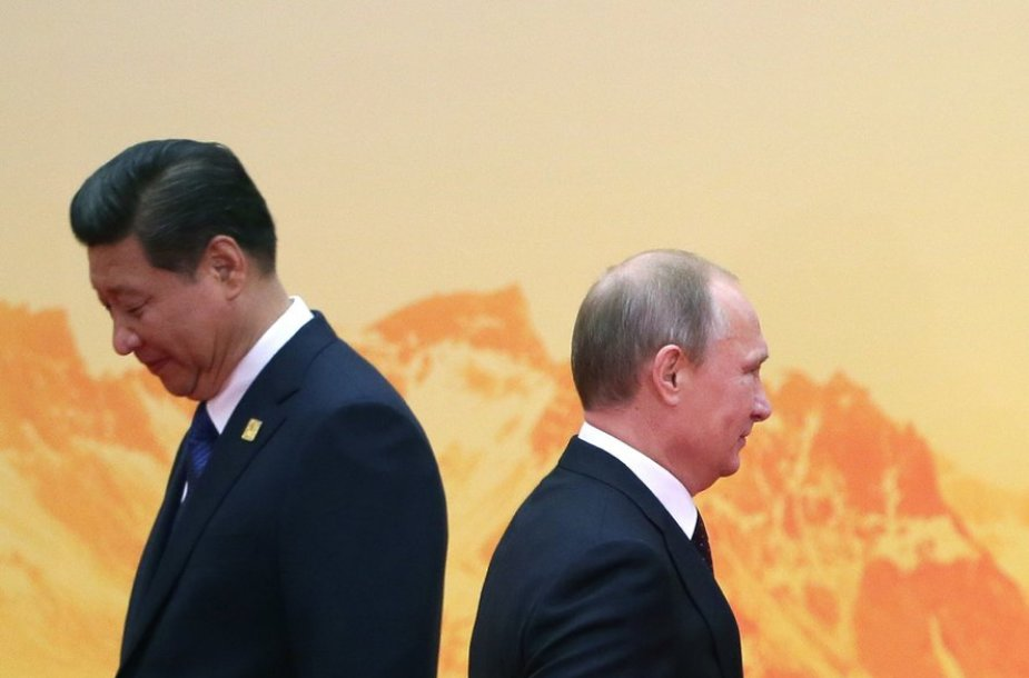 Xi Jinpingas ir Vladimiras Putinas