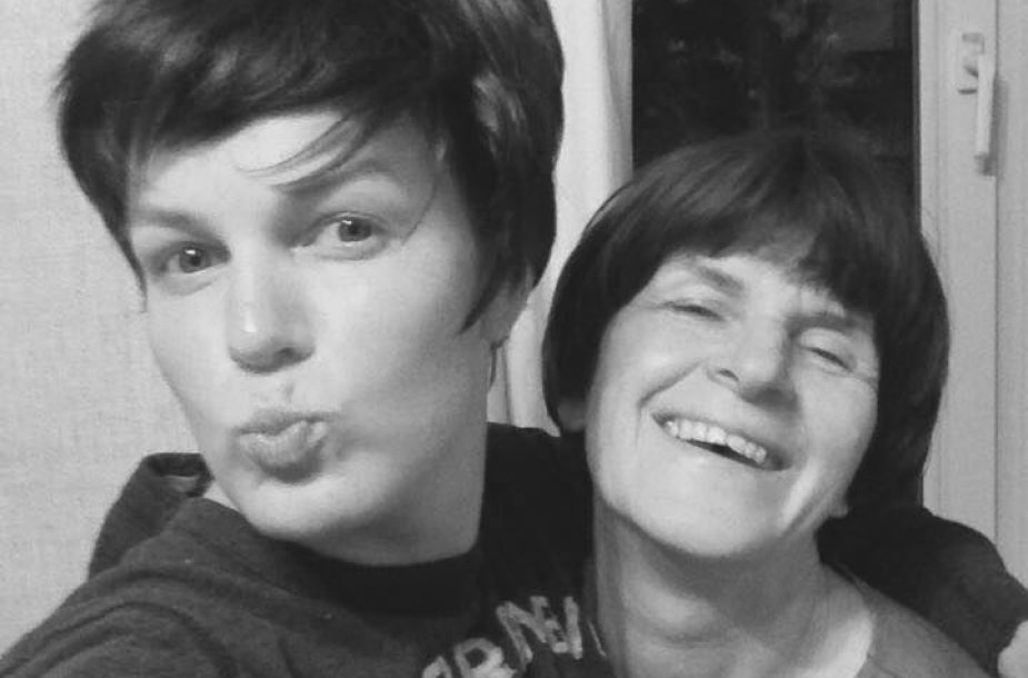 Rimantė Kulvinskytė su mama