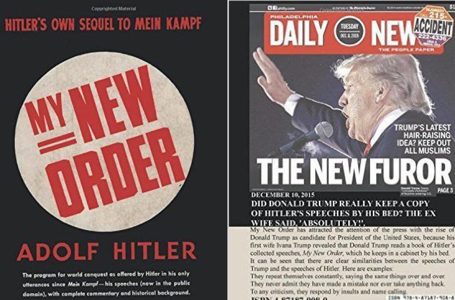 D.Trumpas papuošė knygos apie A.Hitlerį viršelį