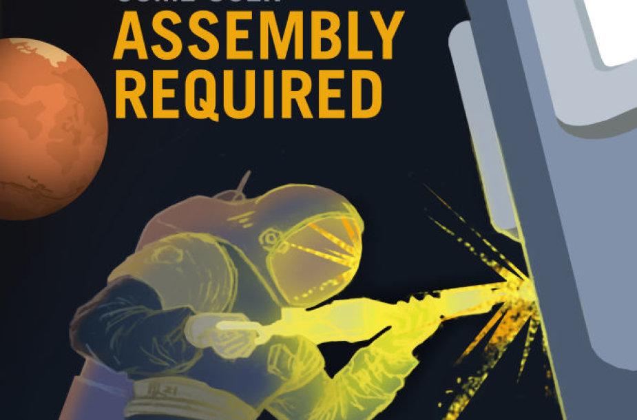 NASA plakatai, kviečiantys keliauti į Marsą