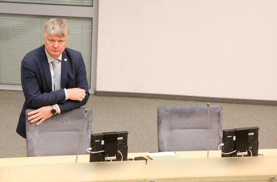 Aplinkos ministras Kęstutis Navickas Seime