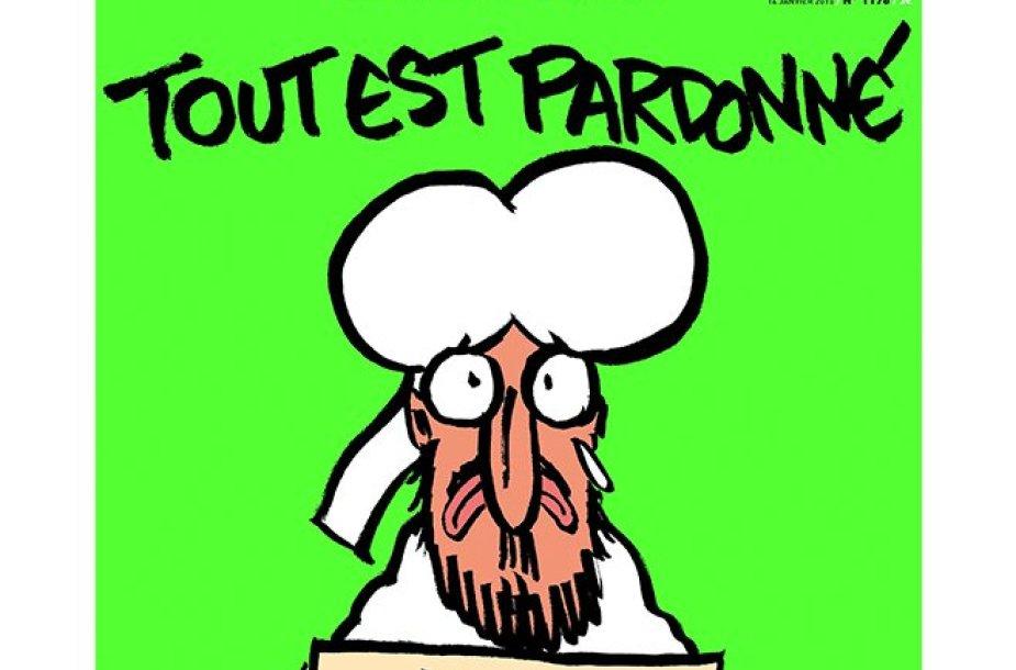"""Vokietijos laikraštis """"Die Tageszeitung"""" perspausdino pranašo Mahometo karikatūrą."""