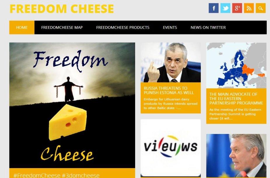 Tinklalapis, skirtas remti Lietuvos pieno gamintojų produktus.