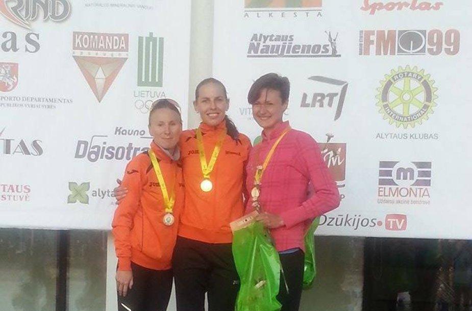 Brigita Virbalytė, Neringa Aidietytė ir Inga Mastianica